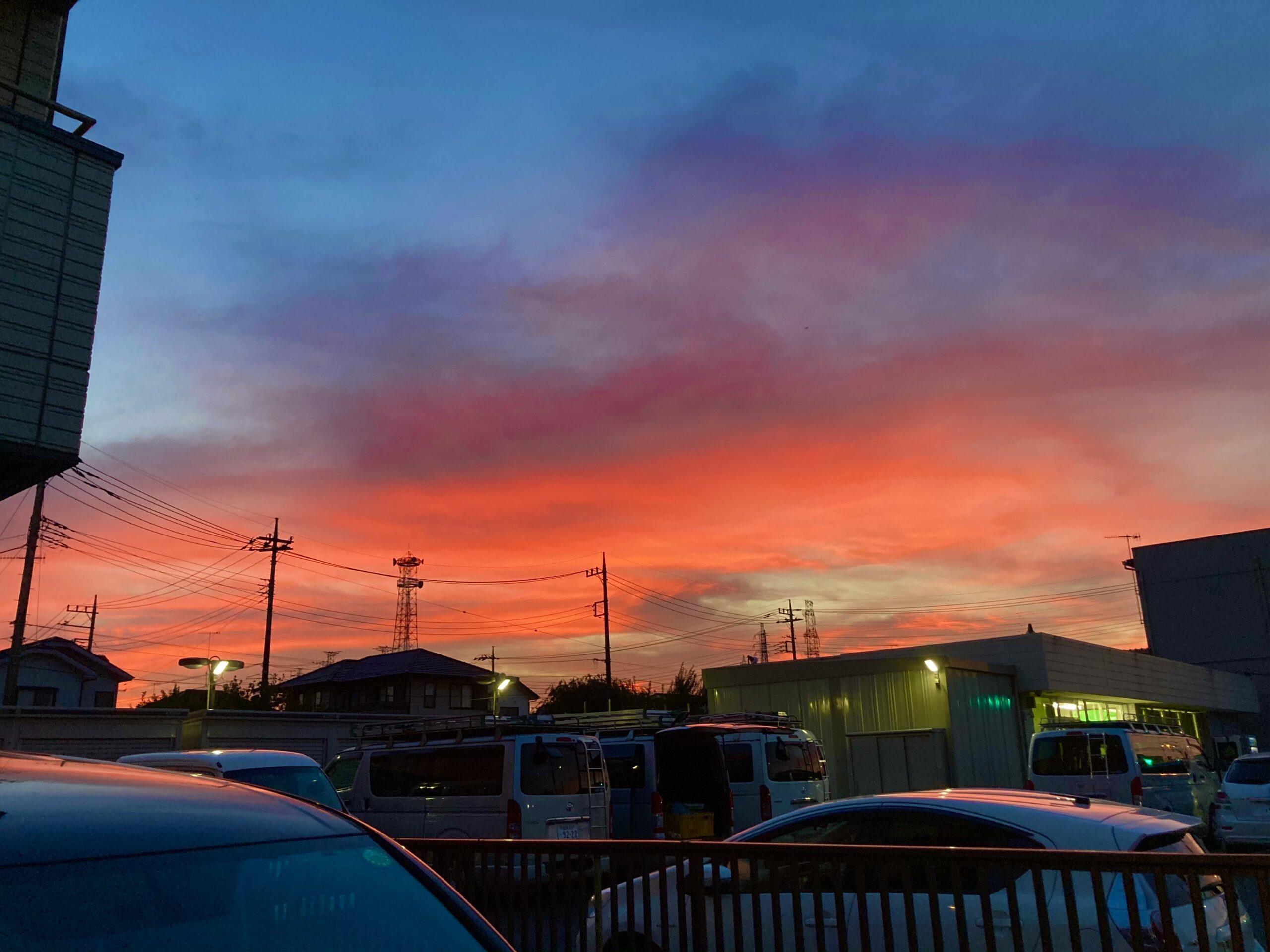 麻溝地区の夕焼けの投稿写真